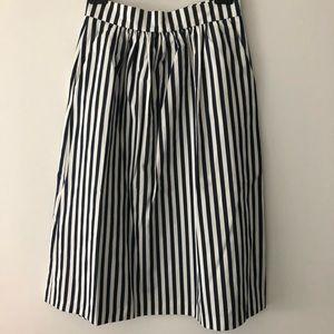 Zara pinstriped skirt